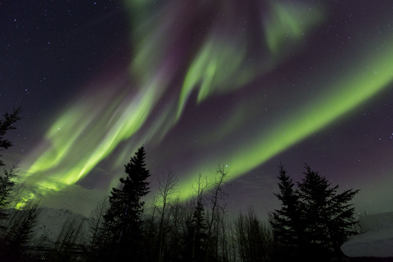 aurora borealis northern lights alaska